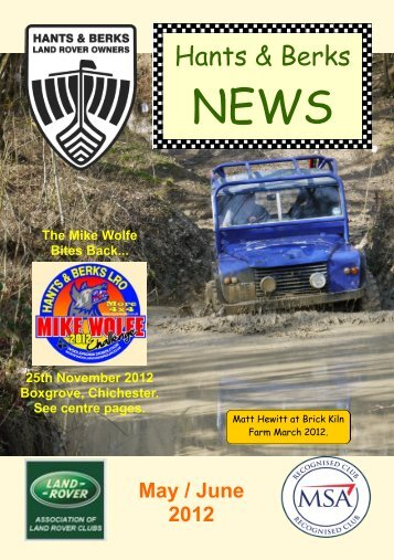 May / June 2012 - Hants & Berks Rover Owners