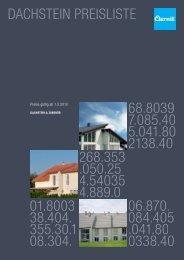 Preise Dachsteine Eternit 2010