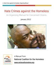 Hate Crimes Against The Homeless: Organizing Manual - National ...