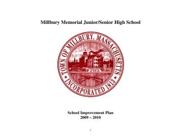 School Improvement Plan.pdf - Millbury Public Schools Community .