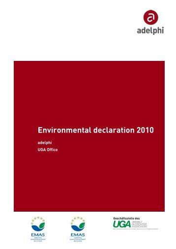 adelphi_Environmental Declaration