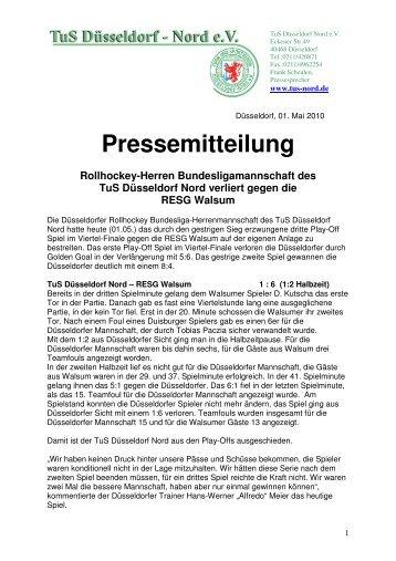 Pressemitteilung Rollhockey-Herren Bundesligamannschaft des ...