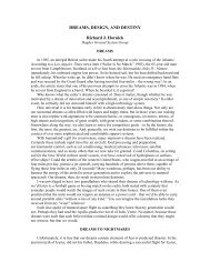 DREAMS, DESIGN, AND DESTINY Richard J. Hornick