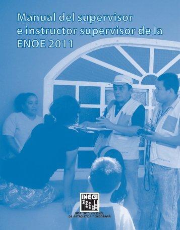 Manual de supervision - Inegi