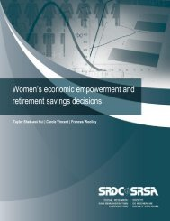 Women's economic empowerment and retirement savings decisions