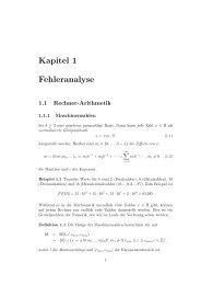 Kapitel 1 Fehleranalyse - Institut für Wissenschaftliches Rechnen