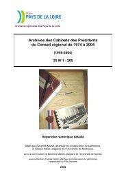 Répertoire numérique 25W - Conseil Régional des Pays de la Loire