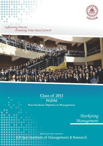 Marketing - S.P. Jain Institute of Management and Research