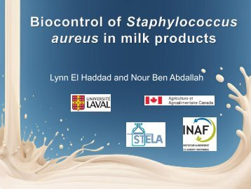 Biocontrol of Staphylococcus aureus in Dairy Products.