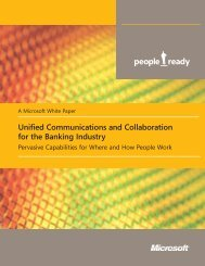 Unified Communications and Collaboration for ... - UCStrategies.com