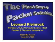 The First Days of Packet Switching - Leonard Kleinrock - UCLA