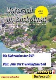 Ausgabe März 2011 - (ÖVP) Unterach am Attersee