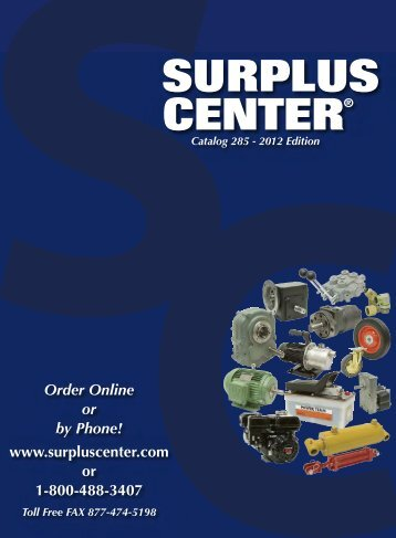 Surplus Center Catalog 285
