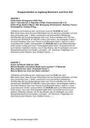 Gruppenarbeiten für die Oberstufe - Museum Online