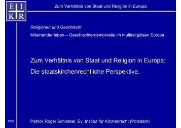 Zum Verhältnis von Staat und Religion in Europa - Fit für Gender ...