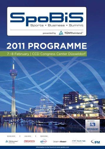 2011 PROGRAMME - SpoBiS