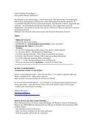 Newsletter Welthaus Linz - Juli 2009