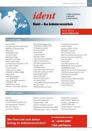 Markt – Das Anbieterverzeichnis - Ident