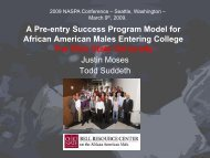 A Pre-entry Success Program Model for African American Males ...