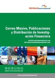 Correo Masivo, Publicaciones y Distribución de Investig - Royale ...