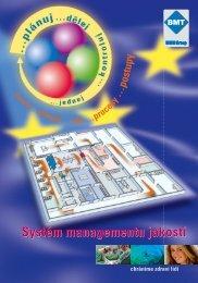 Systém managementu jakosti - BMT Medical Technology sro