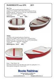 Ruderboote Preisliste 2011 - Boote Feichtner