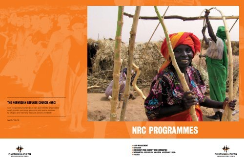 NRC PROGRAMMES - Norwegian Refugee Council