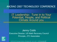 Tune in to Your Potential, People, and Political Climate ... - aacrao