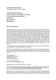 DE000A0MW975 - WKN: A0MW97 Ordentliche Hauptversammlung ...