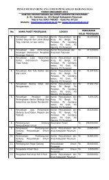 pengumuman rencana umum pengadaan barang/jasa - Kabupaten ...