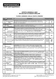oferta generala 2008 de izolanti si adezivi zwaluw - Iftode Universal ...