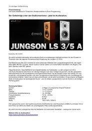 pressetext / 08.12.2010 - Audiocation Audio Akademie