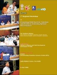 """1st regional workshop on """"Promoting Child Survival, Nutrition ... - BPNI"""