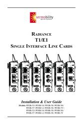 radiance t1/e1 single interface line cards