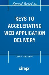 keys to accelerating web application delivery ... - IT World Canada