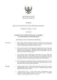 menteri keuangan republik indonesia salinan keputusan menteri ...