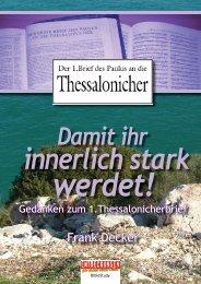 anken zum 1.Thessalonicher - Entdeckungen für (D)ein neues Leben