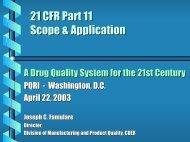 21 CFR Part 11 Scope & Application (PDF) - PQRI