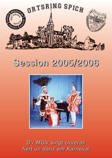terminübersicht der session 2005 - 2006 - Karnevals Ausschuss Spich