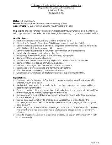 Program Coordinator Job Description How To Write Great Job Titles