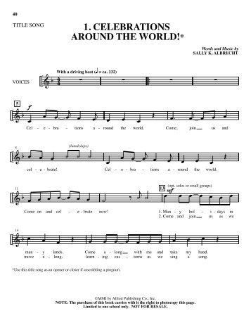 1. Celebrations singer - Clarus Music, Ltd.