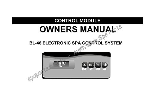 bermuda spa wiring diagram control module owners manual bl 46 electronic spa control system  control module owners manual bl 46