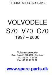 Volvo V/S/C70 1997-2000 - spare-parts.dk