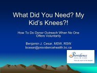 What Did You Need? My Kid's Knees?! - BC Renal Agency