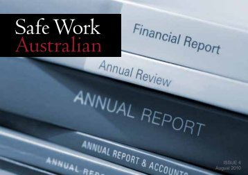 ISSUE 4 August 2010 - Safe Work Australia