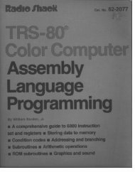 Color Computer Assembly Language Programming (1983) (William ...