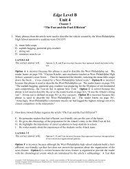 Edge Level B Unit 4 - Division of Language Arts/Reading