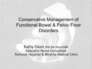 Conservative Management of Functional Bowel ... - Parkside Hospital