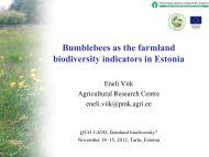 Bumblebees as the farmland biodiversity indicators in Estonia