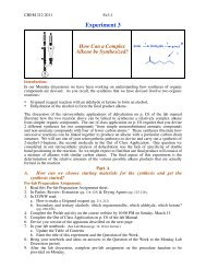 Pre-Lab Preparation Sheet - Moravian College Chemistry Department